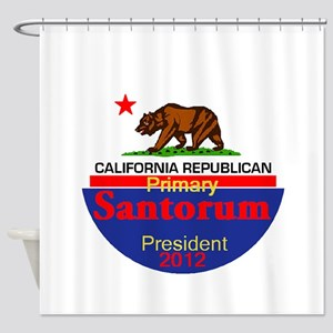 Santorum CALIFORNIA Shower Curtain
