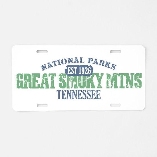 Great Smoky Mountains Nat Par Aluminum License Pla