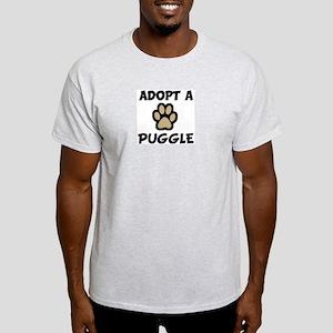 Adopt a PUGGLE Ash Grey T-Shirt