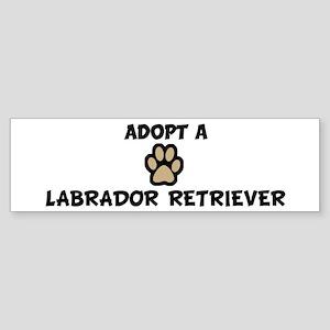 Adopt a LABRADOR RETRIEVER Bumper Sticker