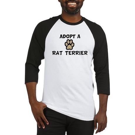 Adopt a RAT TERRIER Baseball Jersey
