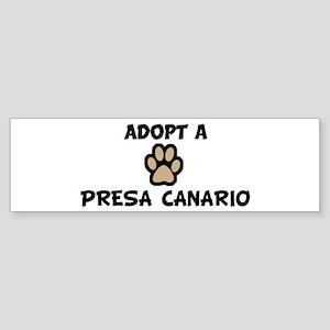 Adopt a PRESA CANARIO Bumper Sticker