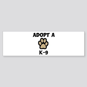 Adopt a K-9 Bumper Sticker