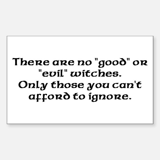 Good or evil witches Rectangle Decal