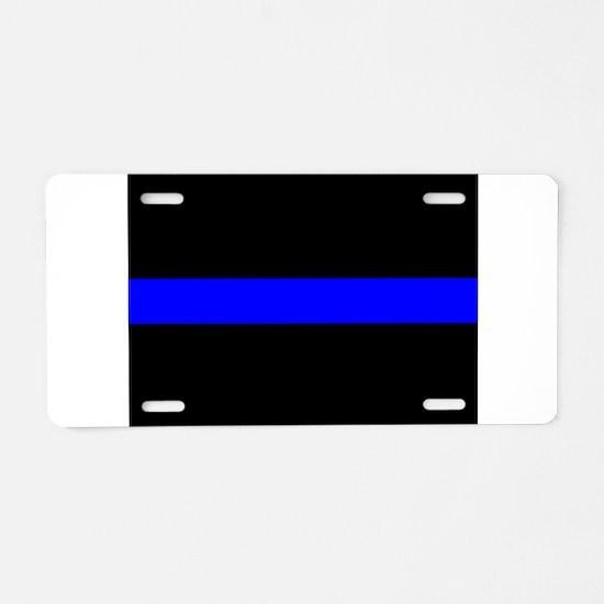 Thin Blue Line Aluminum License Plate
