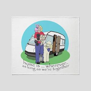 Caravan babes Throw Blanket