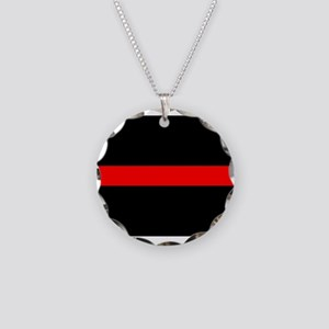Firefighter Thin Red Line Necklace Circle Charm