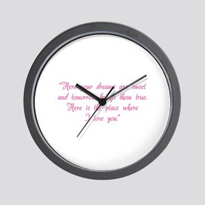 HG here your dreams are sweet .. Wall Clock
