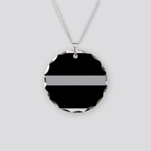 Corrections Thin Silver Line Necklace Circle Charm