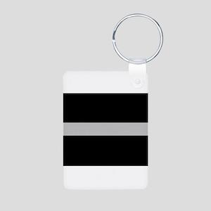 Corrections Thin Silver Line Aluminum Photo Keycha