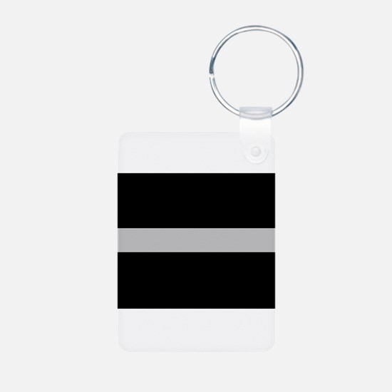 Corrections Thin Silver Line Keychains