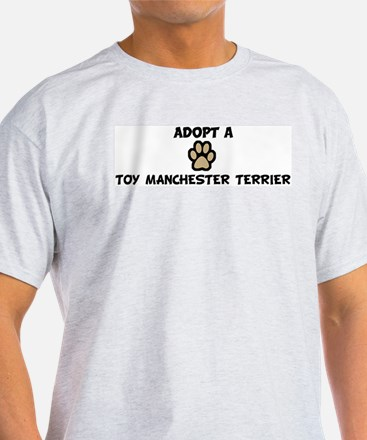 Adopt a TOY MANCHESTER TERRIE Ash Grey T-Shirt