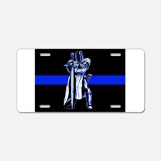 Freemason Templar Thin Blue L Aluminum License Pla