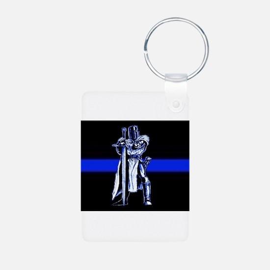 Freemason Templar Thin Blue L Keychains