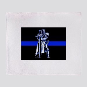 Freemason Templar Thin Blue L Throw Blanket