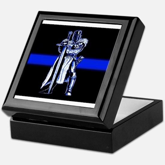 Freemason Templar Thin Blue L Keepsake Box