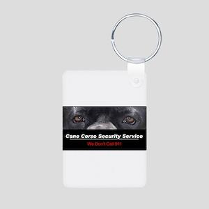 Cane Corso Security Service Aluminum Photo Keychai