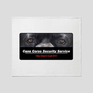 Cane Corso Security Service Throw Blanket