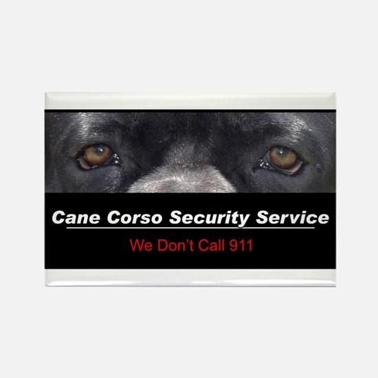 Cane Corso Security Service Rectangle Magnet