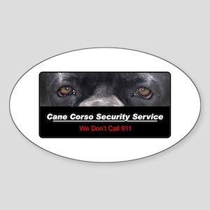 Cane Corso Security Service Sticker (Oval)