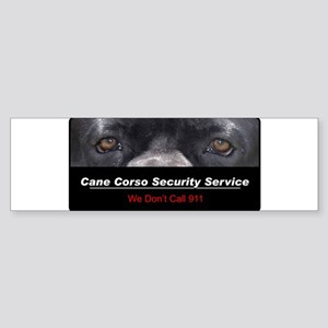 Cane Corso Security Service Sticker (Bumper)