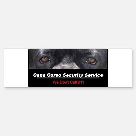 Cane Corso Security Service Sticker (Bumper)