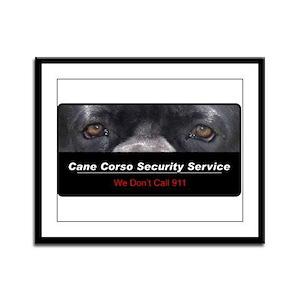 Cane Corso Security Service Framed Panel Print
