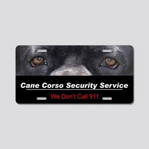 Cane Corso Security Service Aluminum License Plate