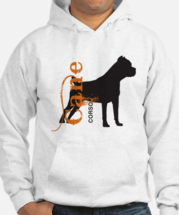 Grunge Cane Corso Silhouette Hoodie