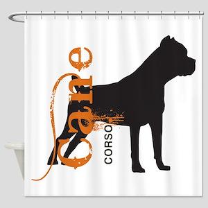 Grunge Cane Corso Silhouette Shower Curtain