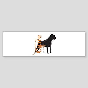 Grunge Cane Corso Silhouette Sticker (Bumper)