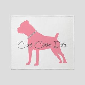 Diamonds Cane Corso Diva Throw Blanket