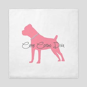 Diamonds Cane Corso Diva Queen Duvet