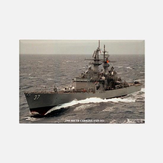USS SOUTH CAROLINA Rectangle Magnet