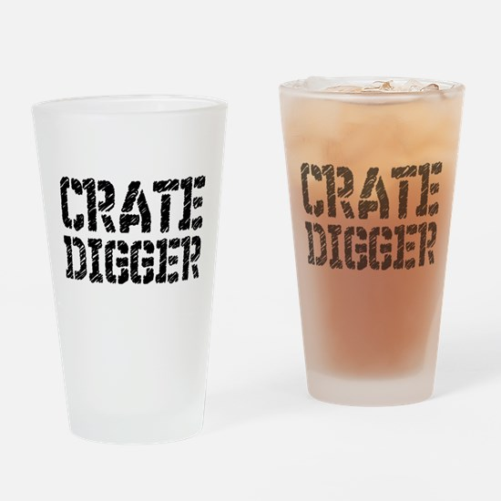Crate Digger Drinking Glass