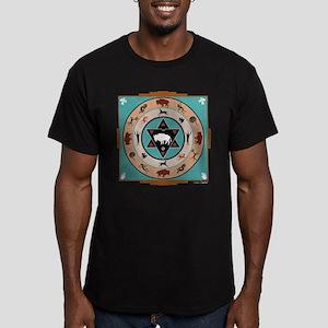 White Buffalo Medicine Wheel Men's Fitted T-Shirt