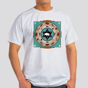 White Buffalo Medicine Wheel Light T-Shirt