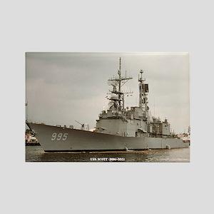 USS SCOTT Rectangle Magnet