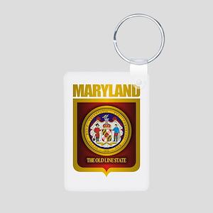 """""""Maryland Gold"""" Aluminum Photo Keychain"""