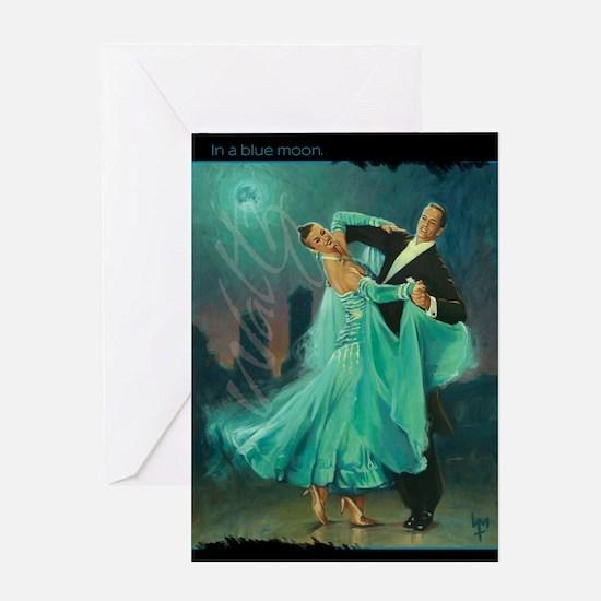 Waltz in a Blue Moon Greeting Card