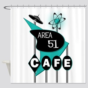 Area 51 Cafe Shower Curtain