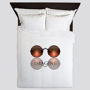 Imagine Rose Colored Glasses Queen Duvet