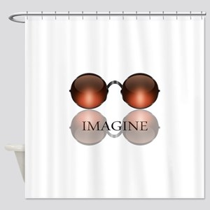 Imagine Rose Colored Glasses Shower Curtain