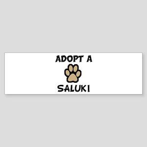 Adopt a SALUKI Bumper Sticker