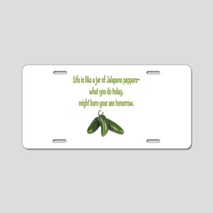 Jalapeno Burn Aluminum License Plate