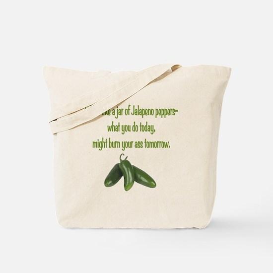Jalapeno Burn Tote Bag