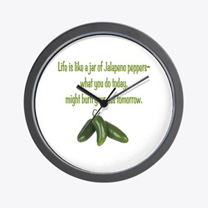 Jalapeno Burn Wall Clock