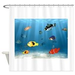 Oceans Of Fish Shower Curtain
