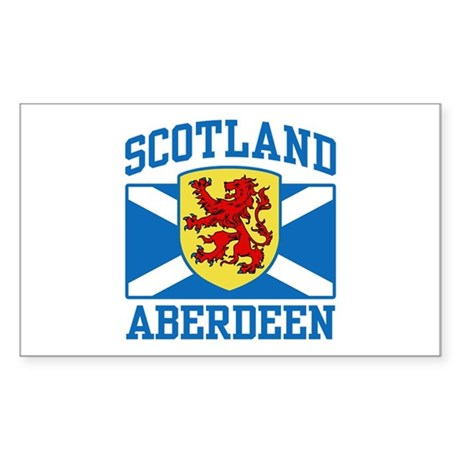 Aberdeen Scotland Sticker (Rectangle)