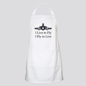 I Live to Fly I Fly to Live BBQ Apron